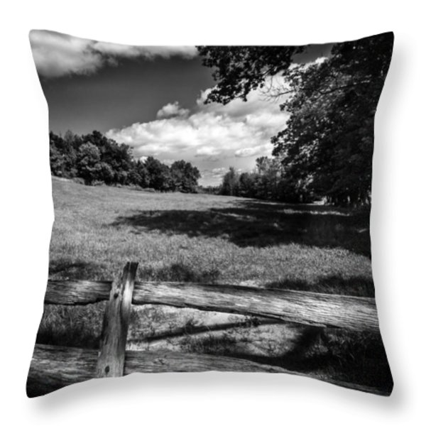 Mountain Field Throw Pillow by Bob Orsillo
