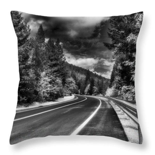Mountain Highway Throw Pillow by Mick Burkey
