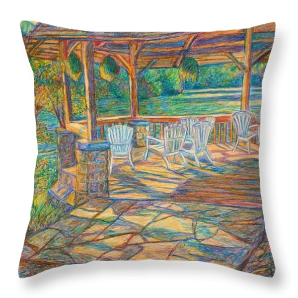 Mountain Lake Shadows Throw Pillow by Kendall Kessler