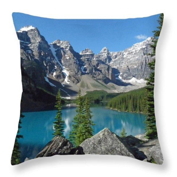 Mountain Magic Throw Pillow by Alan Socolik