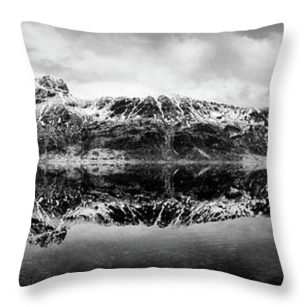 Mountain Reflection Throw Pillow by Dave Bowman