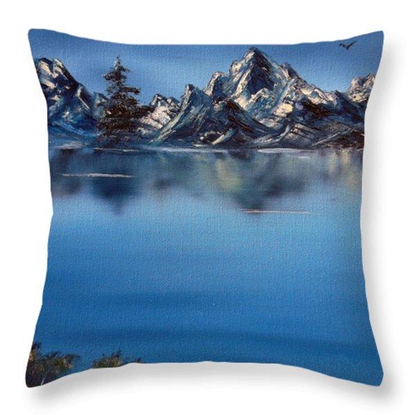 Mountain Ridge Horizon Throw Pillow by Cynthia Adams