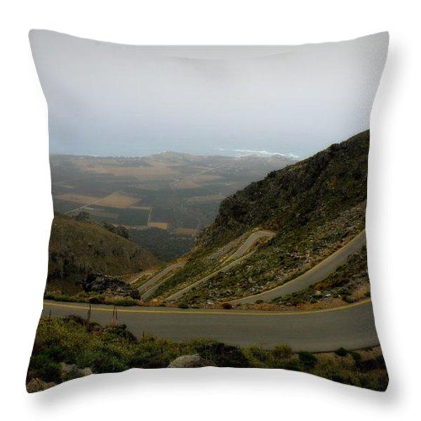 Mountain Road Crete Throw Pillow by Lainie Wrightson