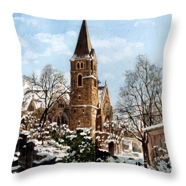 Mountain Sanctuary Throw Pillow by Barbara Jewell