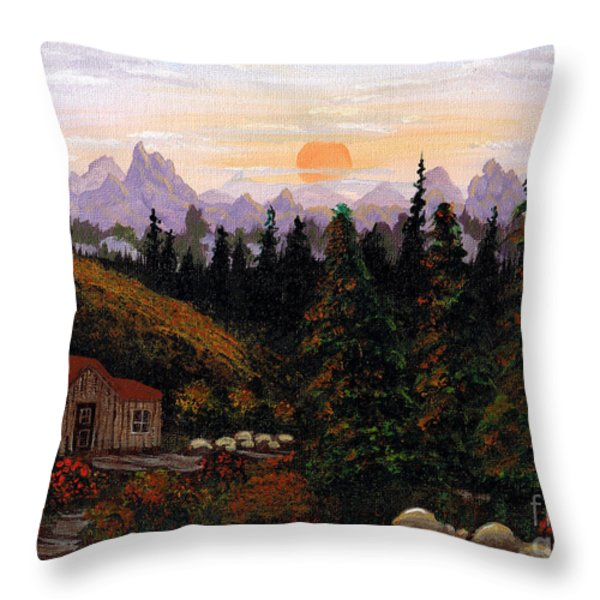 Mountain View Throw Pillow by Barbara Griffin