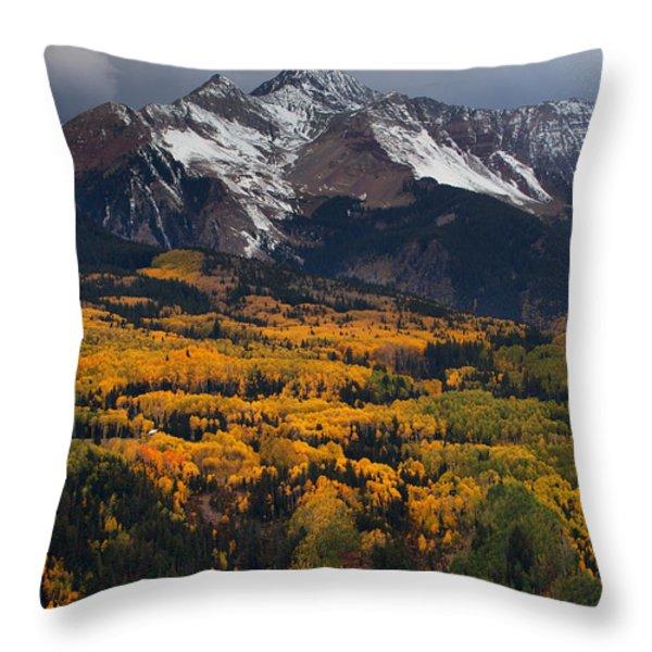 Mountainous Storm Throw Pillow by Darren  White