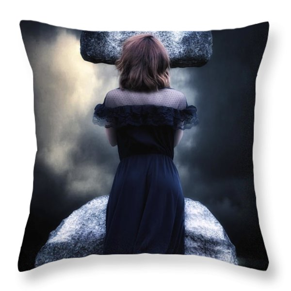 mourning Throw Pillow by Joana Kruse