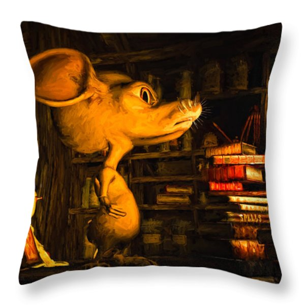 Mouse In The Attic Throw Pillow by Bob Orsillo