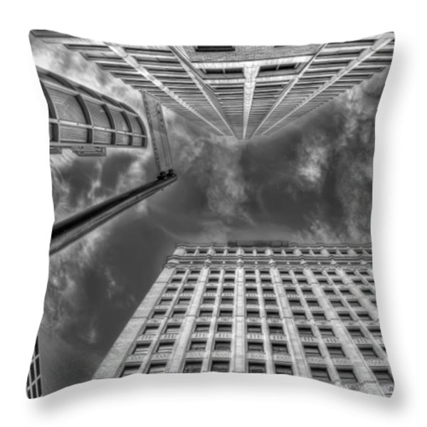 Moving on up Throw Pillow by Scott Norris