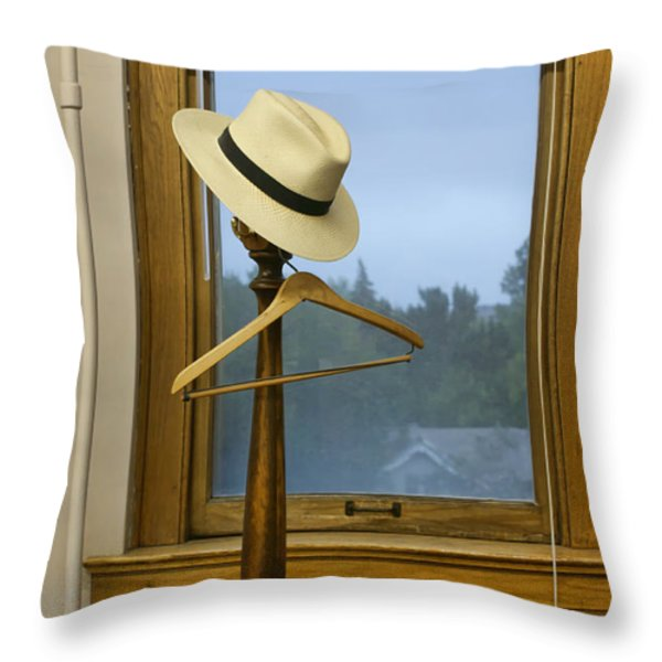 Mr. Daly's Hat Throw Pillow by Nikolyn McDonald
