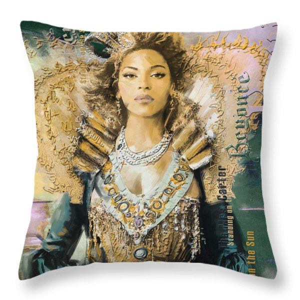 Mrs.Carter Show Poster - B Throw Pillow by Corporate Art Task Force