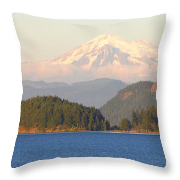 Mt Baker Throw Pillow by Brian Harig