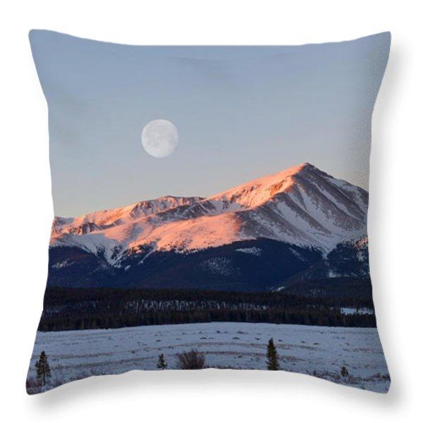 Mt. Elbert Sunrise Throw Pillow by Aaron Spong