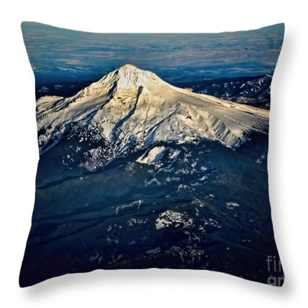 Mt Hood Throw Pillow by Jon Burch Photography