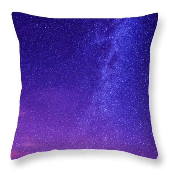 Mt. Hood Milky Way 01 Throw Pillow by Lori Grimmett