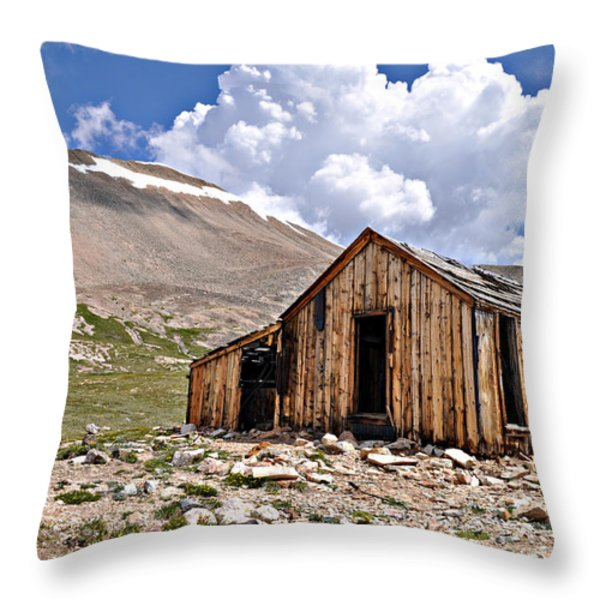 Mt. Sherman Throw Pillow by Aaron Spong