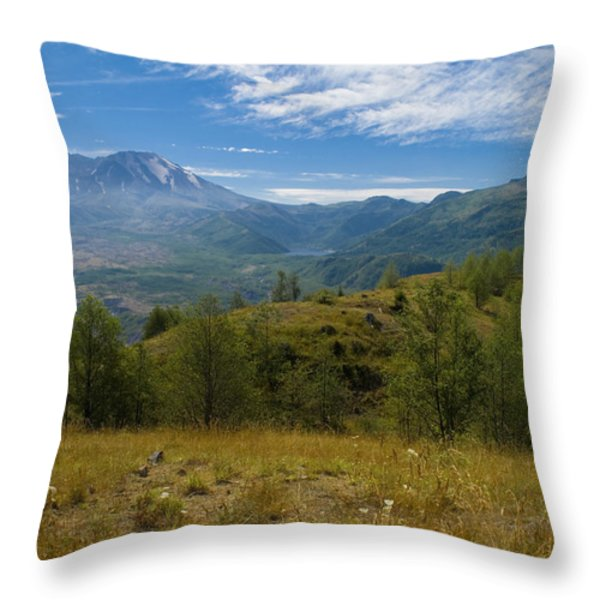 Mt St Helens I Throw Pillow by Brian Harig