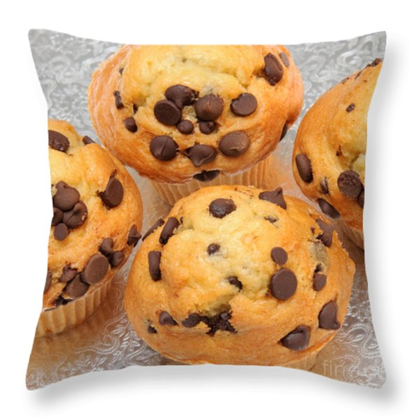 Muffin Tops 2 Throw Pillow by Andee Design