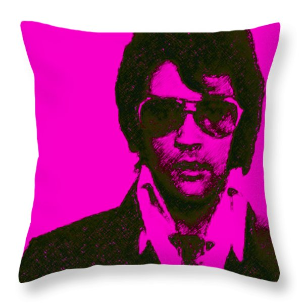 Mugshot Elvis Presley m80 Throw Pillow by Wingsdomain Art and Photography