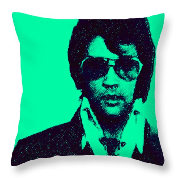 Mugshot Elvis Presley p128 Throw Pillow by Wingsdomain Art and Photography