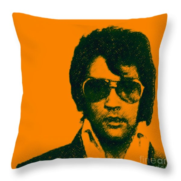 Mugshot Elvis Presley Square Throw Pillow by Wingsdomain Art and Photography