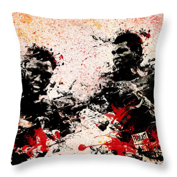 Muhammad Ali 2 Throw Pillow by MB Art factory