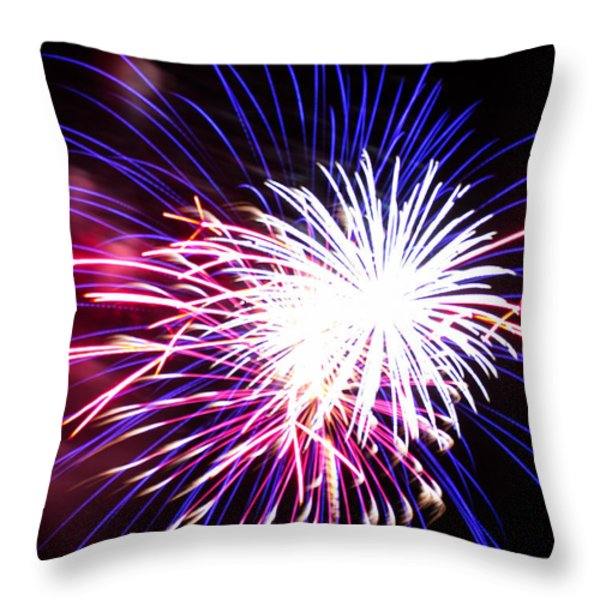 4th of July Fireworks 15  Throw Pillow by Howard Tenke