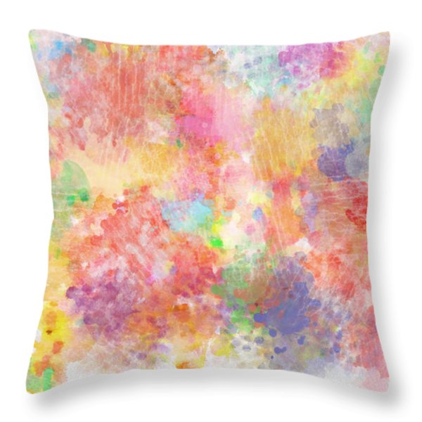 Multi Colored Ditgital Abstract 5 Throw Pillow by Debbie Portwood