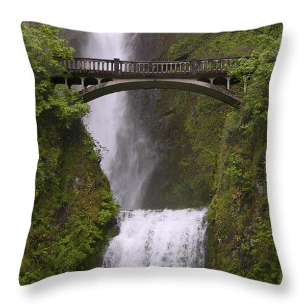 Multnomah Falls Oregon Throw Pillow by Gary Grayson