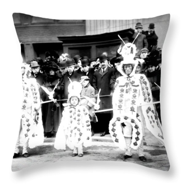 Mummers circa 1909 Throw Pillow by Digital Reproductions