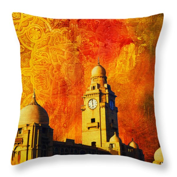 Municipal Corporation Karachi Throw Pillow by Catf