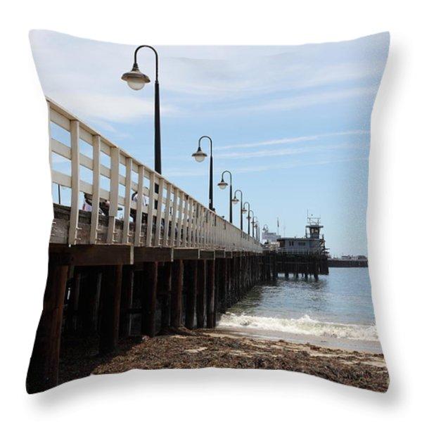 Municipal Wharf At The Santa Cruz Beach Boardwalk California 5D23768 Throw Pillow by Wingsdomain Art and Photography