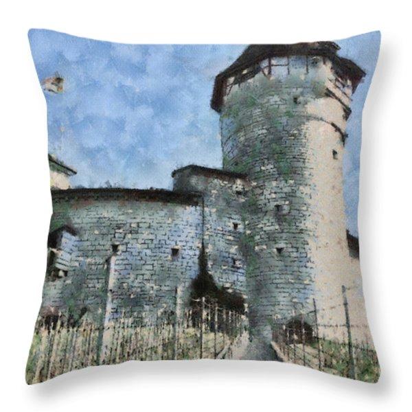 Munot Throw Pillow by Ayse Deniz