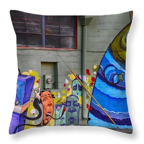Mural - Wall Art Throw Pillow by Liane Wright