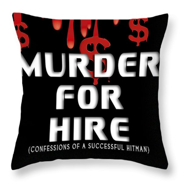 Murder For Hire Book Cover Throw Pillow by Mike Nellums