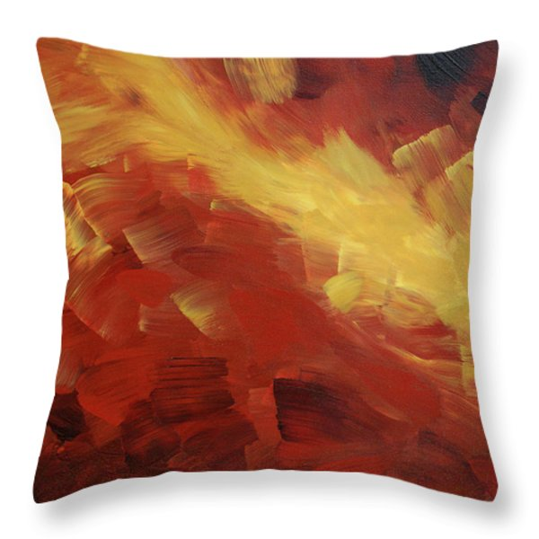 Muse In The Fire 1 Throw Pillow by Sharon Cummings