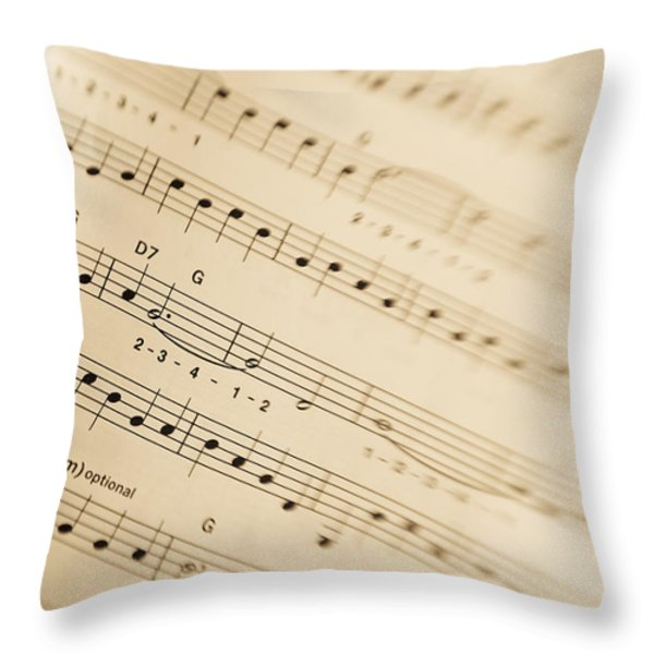 Music Throw Pillow by Alexey Stiop