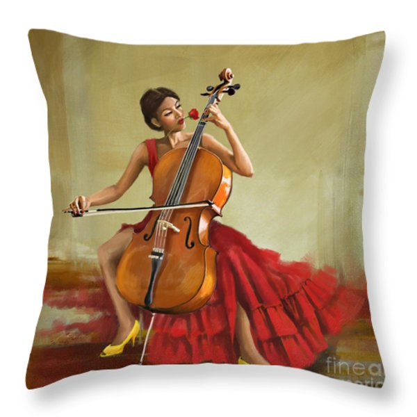Music And Beauty Throw Pillow by Corporate Art Task Force