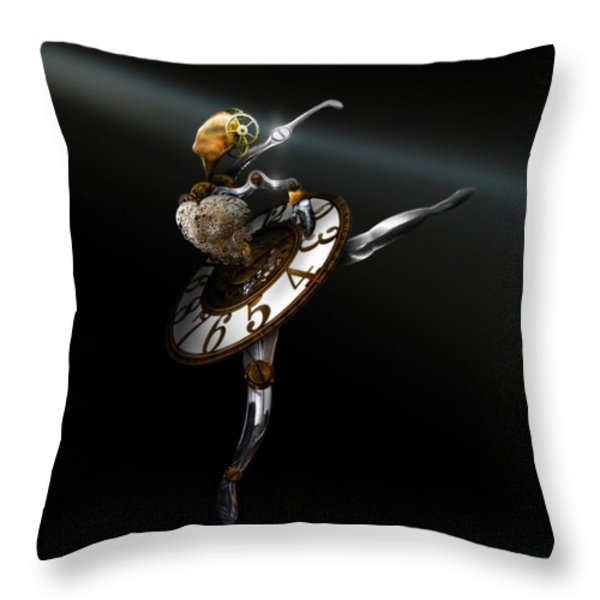 Music Box - The Dance of Hours Throw Pillow by Alessandro Della Pietra
