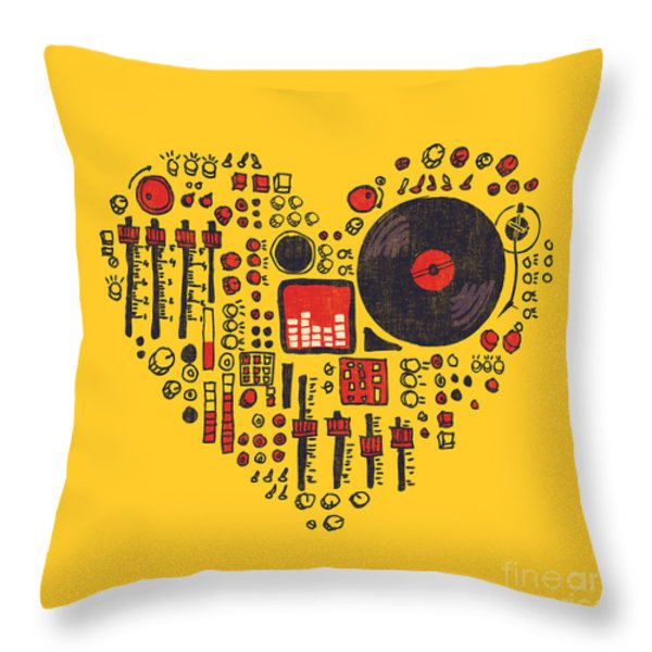 Music In Every Hearbeat Throw Pillow by Budi Satria Kwan