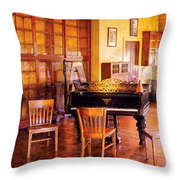 Music - Piano - Ready For Piano Lessons Throw Pillow by Mike Savad