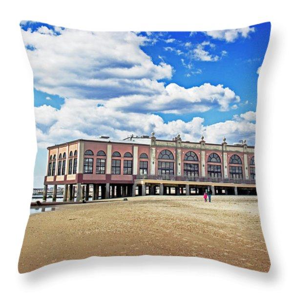 Music Pier Throw Pillow by Tom Gari Gallery-Three-Photography