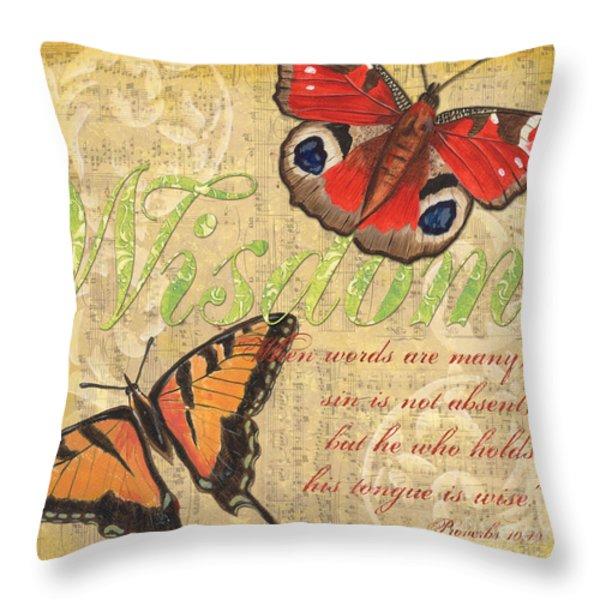 Musical Butterflies 4 Throw Pillow by Debbie DeWitt