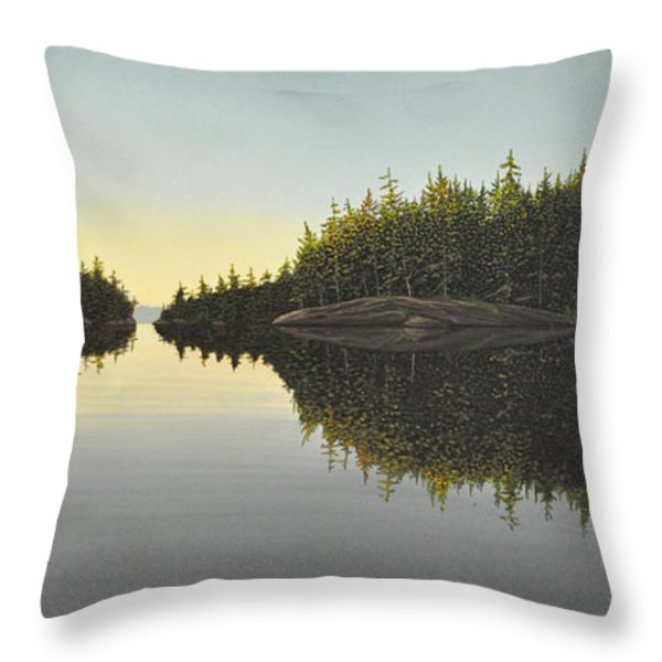 Muskoka Solitude Throw Pillow by Kenneth M  Kirsch