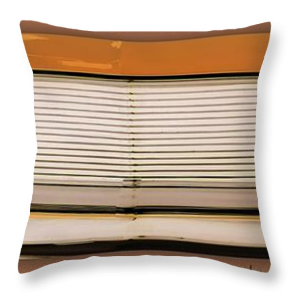 Mustang Grill Throw Pillow by Bobbee Rickard