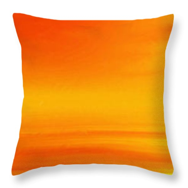 Mute Sunset Throw Pillow by John Edwards