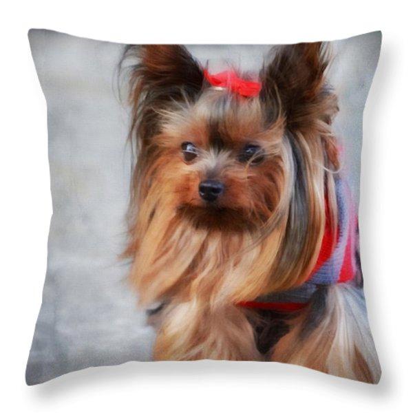 My Beauty II Throw Pillow by Gail Bridger