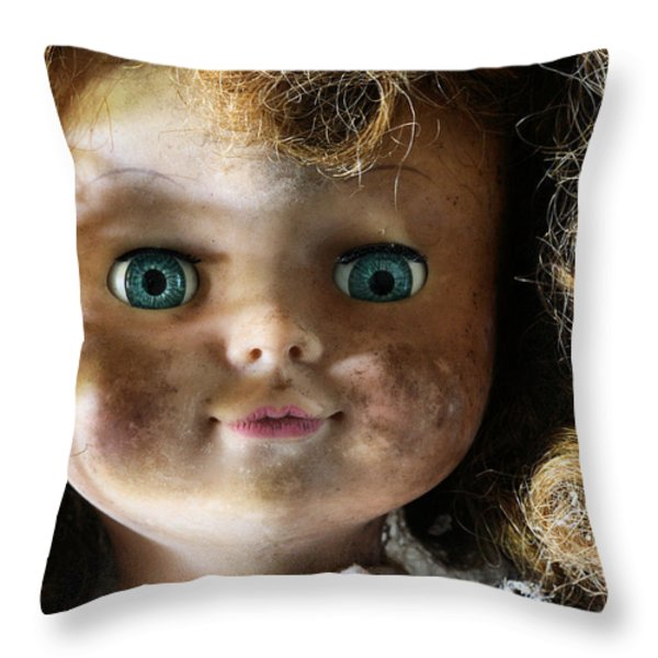 My Bedroom Eyes Throw Pillow by JC Findley