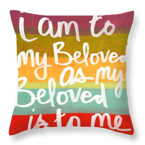 My Beloved Throw Pillow by Linda Woods