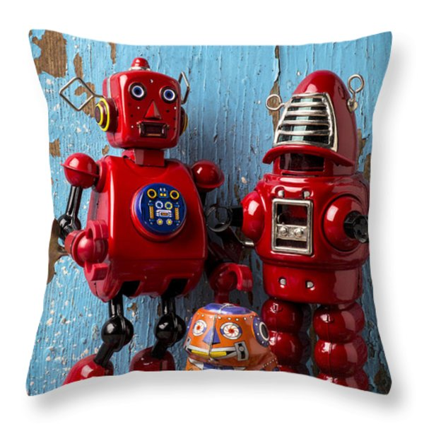My Bots Throw Pillow by Garry Gay